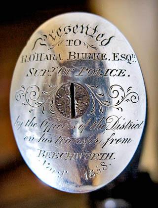 Burke pistol medallion Burke Museum